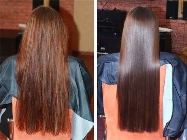 Горячее лечение волос
