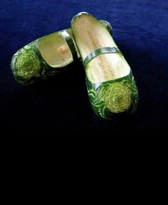 Поделки из овощей туфельки 62