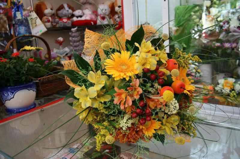 Осенние цветочные композиции из живых цветов фото