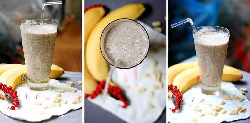 Как сделать смузи банан молоко 552
