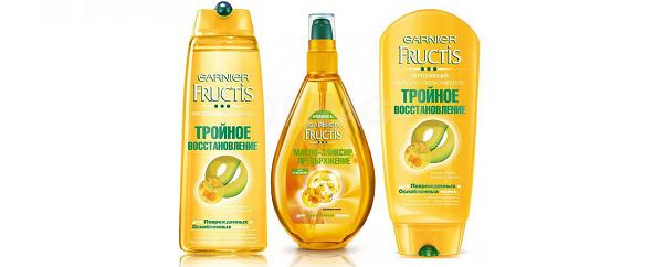 Масло-эликсир Преображение Тройное восстановление Fructis Garnier